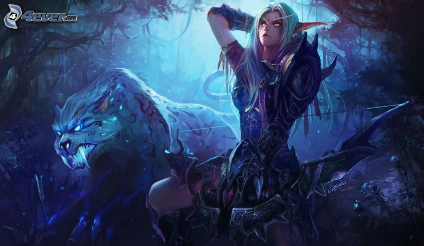 World of Warcraft, mujer elfo