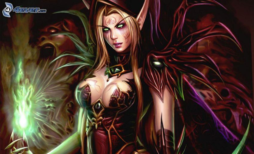 World of Warcraft, mujer fantástica