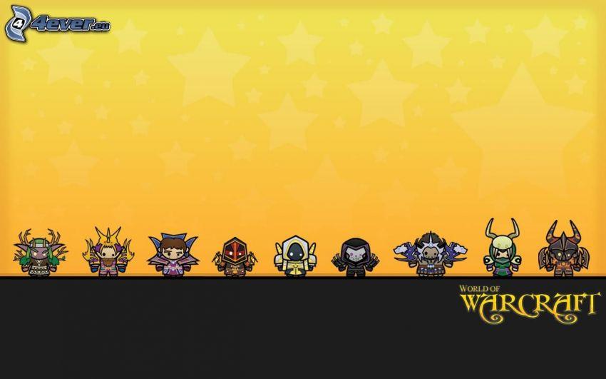 World of Warcraft, personajes de dibujos animados
