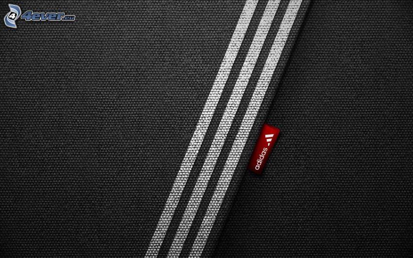 Adidas, logo, líneas, tela