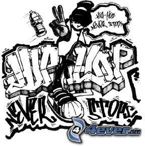hip hop, grafiti