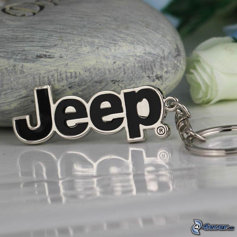 Jeep, colgante, Rosa Blanca