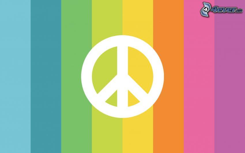 paz, tiras de colores