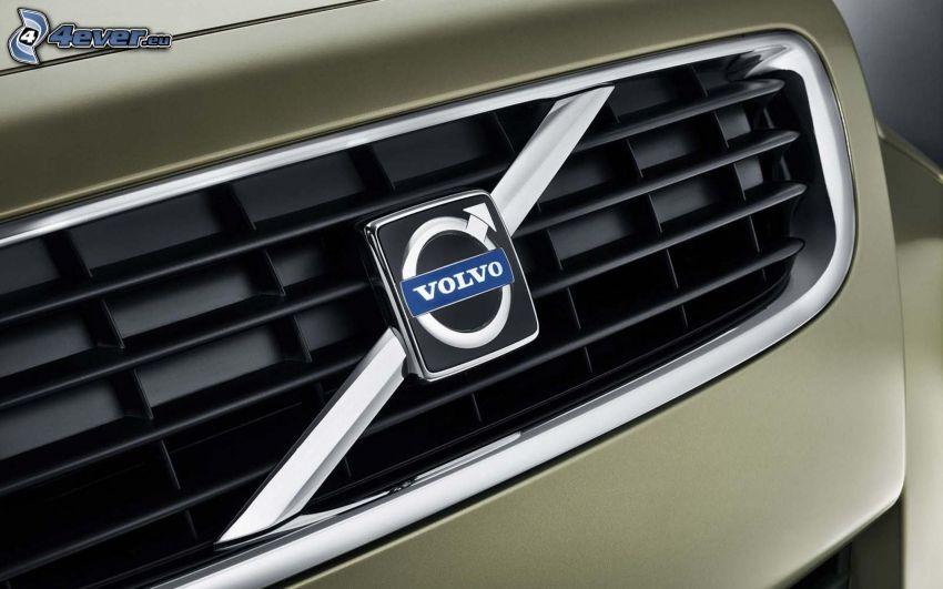Volvo, logo, delantera de coche