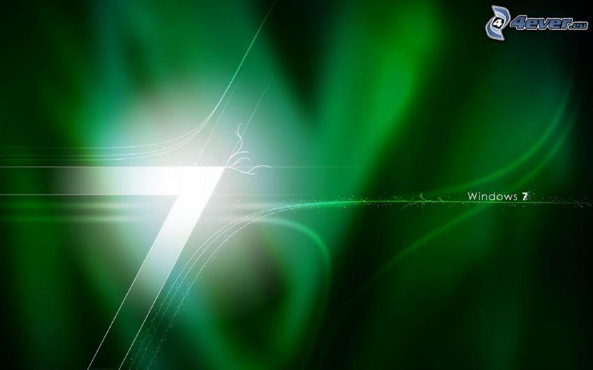 Windows 7, fondo verde