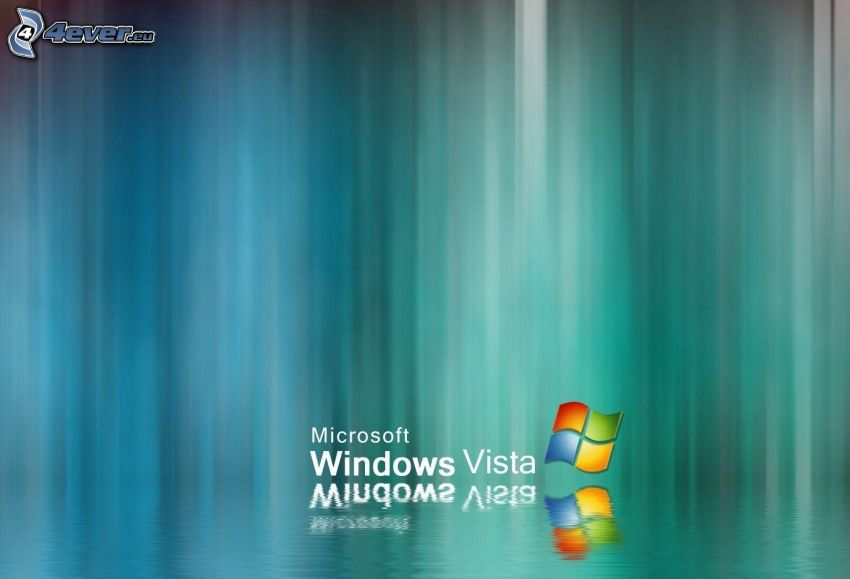 Windows Vista, reflejo, agua