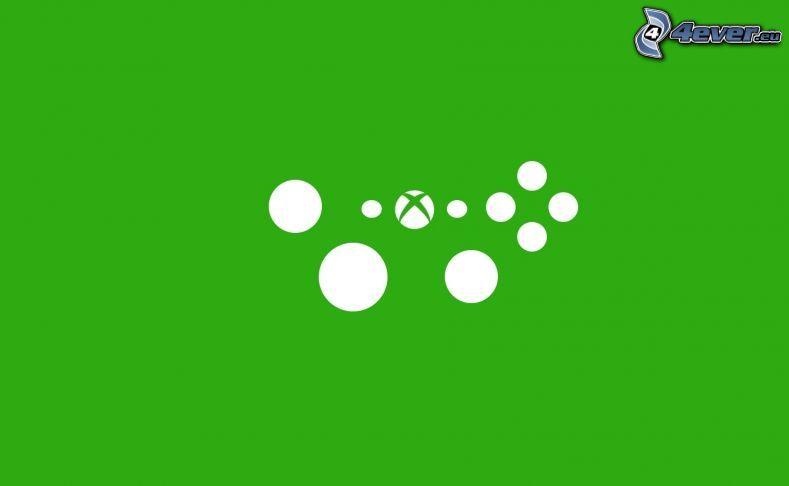 Xbox, círculos, fondo verde