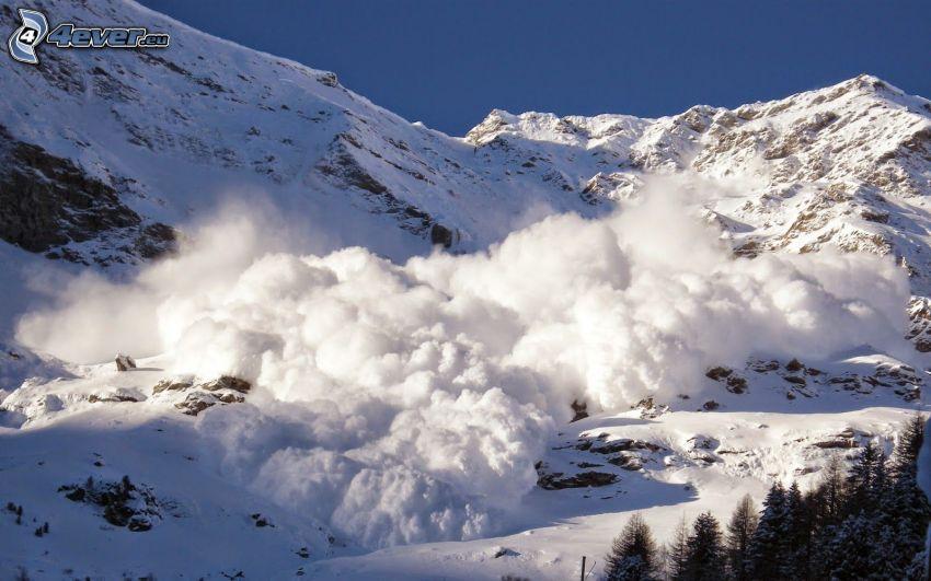 Montaña Nevada Hd: Alud