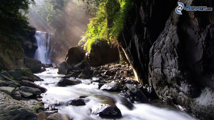 cascada, agua