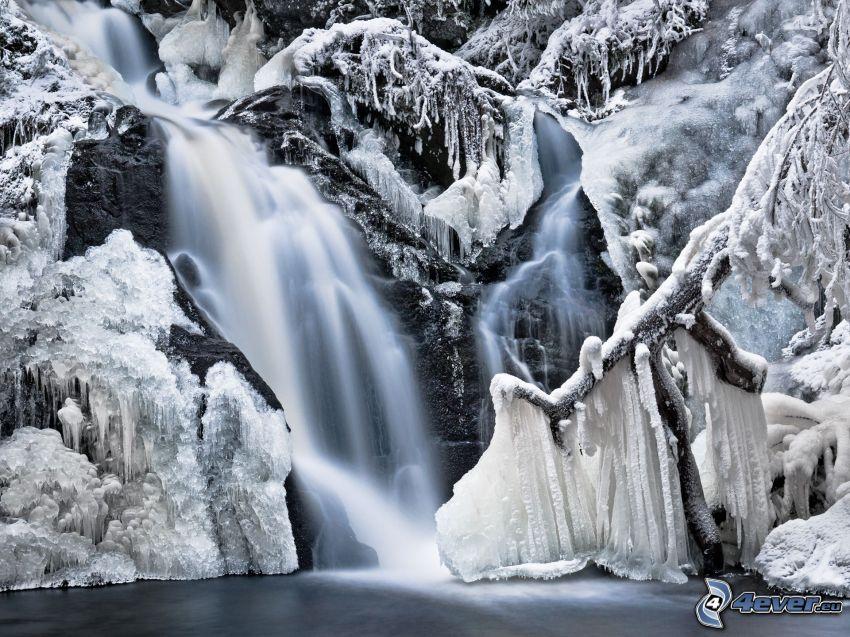 cascada, hielo