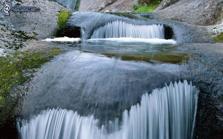 cascadas, rocas