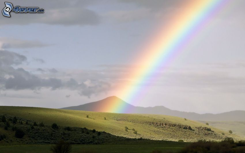 arco iris, colina