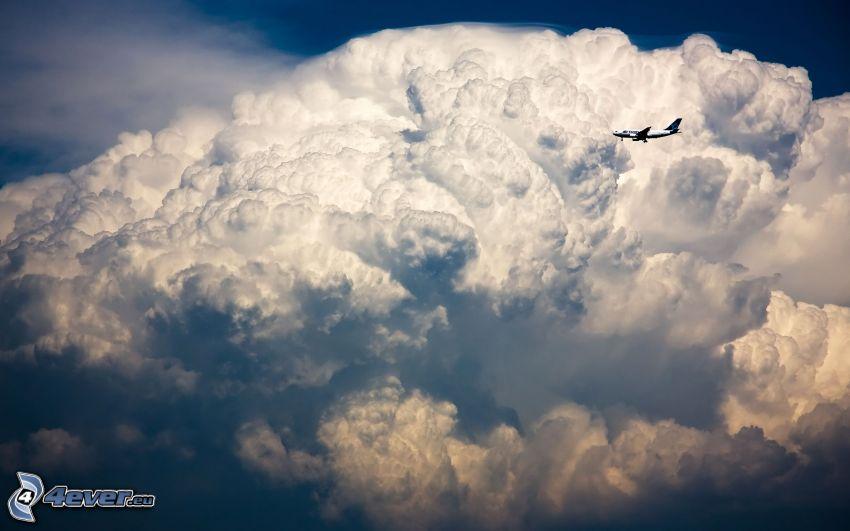 nube, avión
