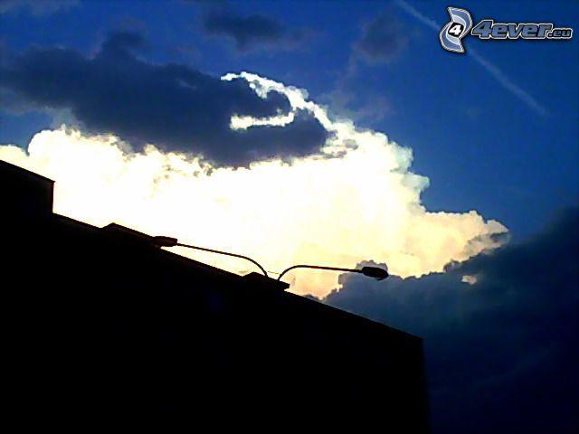 nube, cielo