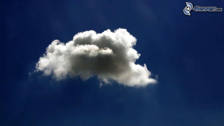 nube, cielo azul