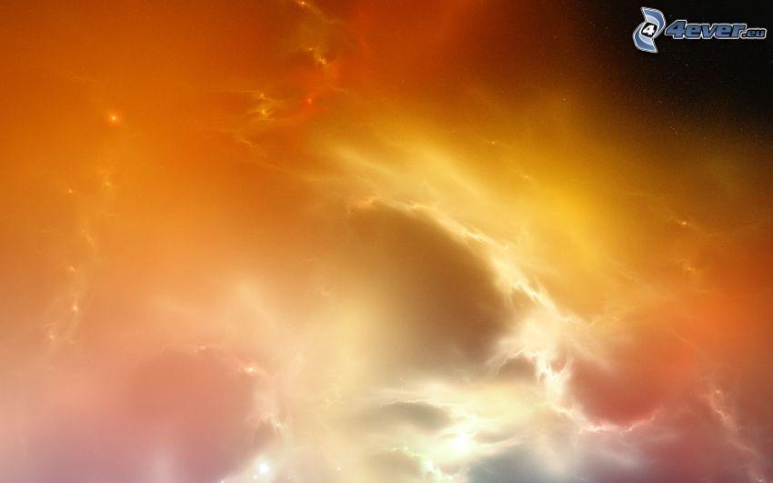 nubes amarillas