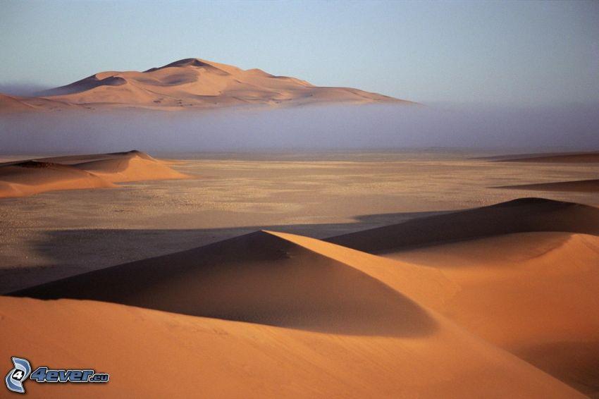 desierto, nube, colina