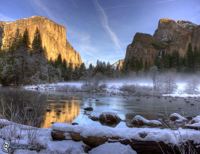 El Capitan, Parque nacional de Yosemite, río