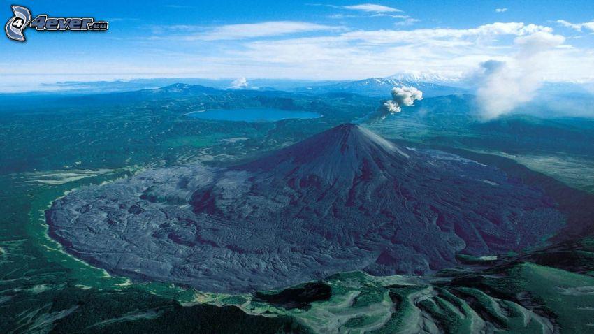 Etna, volcán, lago