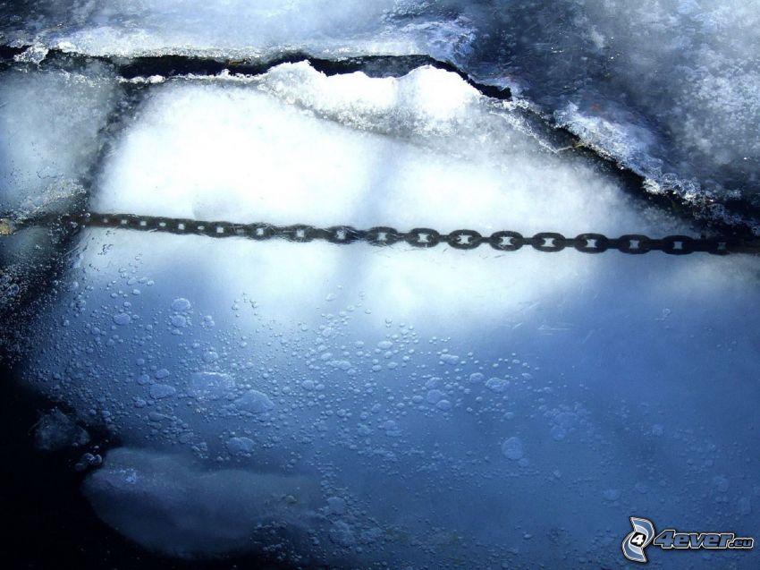 hielo, cadena