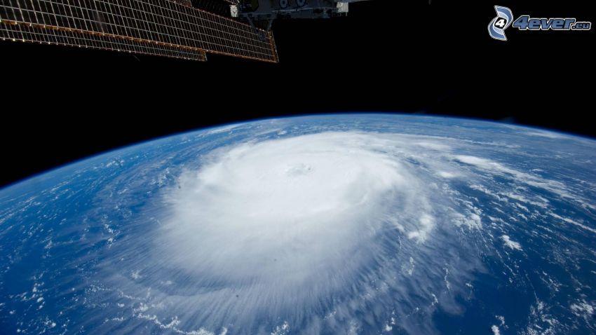 huracán, Tierra, vista desde el espacio, Estación Espacial Internacional ISS