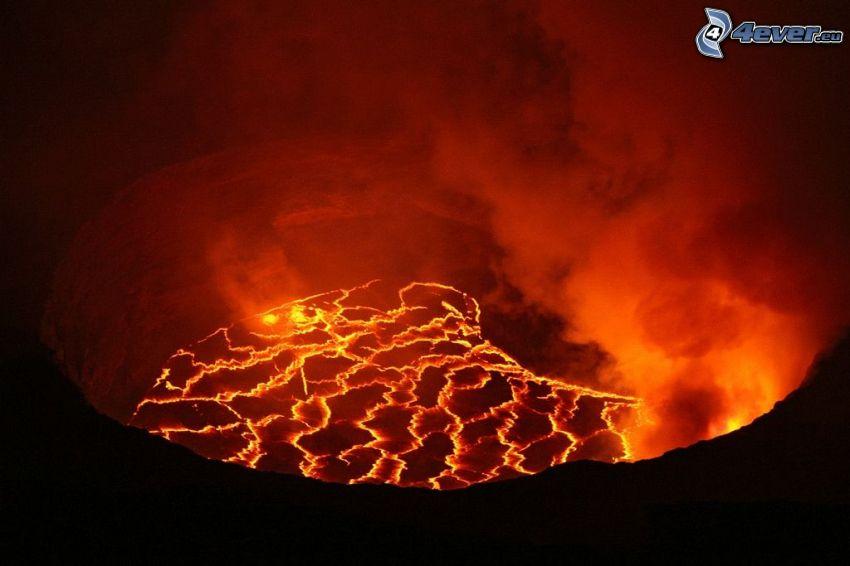 lava, humo