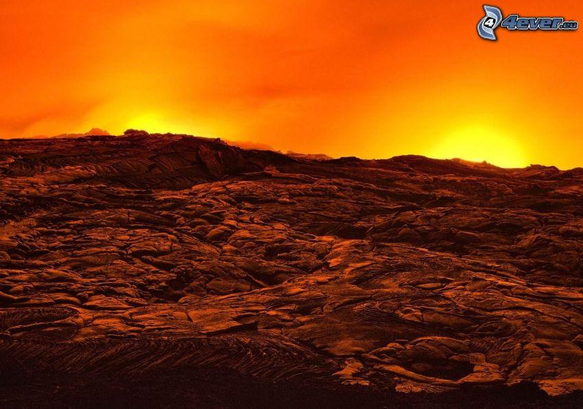 lava, volcán