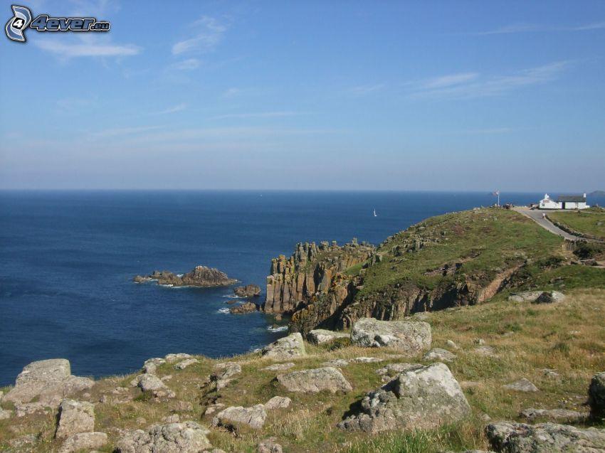 acantilados costeros, vista al mar