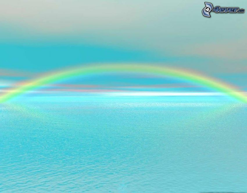 arco iris, mar