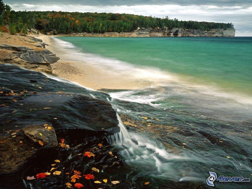 costa, mar, acantilados costeros