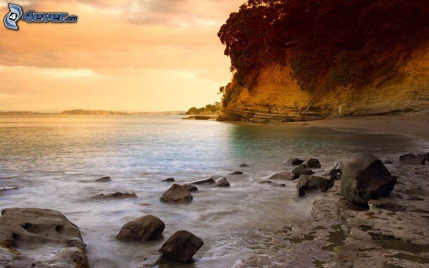 costa, piedras, acantilados costeros