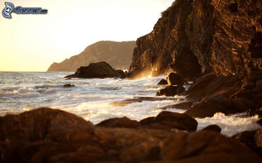 costa rocosa, acantilados costeros