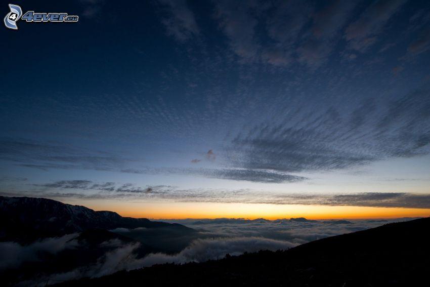 después de la puesta del sol