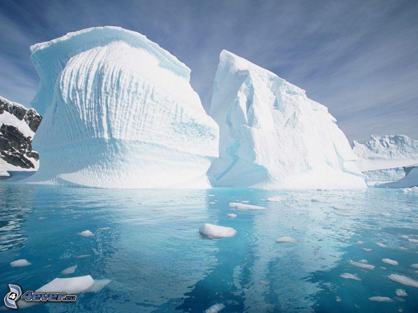 glaciar, mar