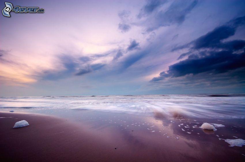 mar, cielo, playa