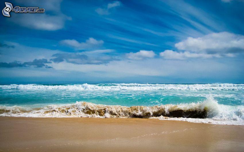 mar, costa, cielo