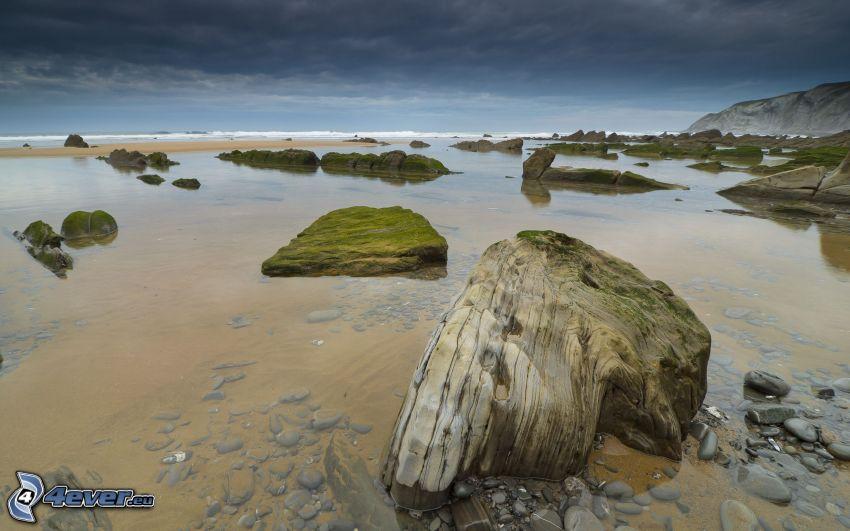 mar, costa rocosa