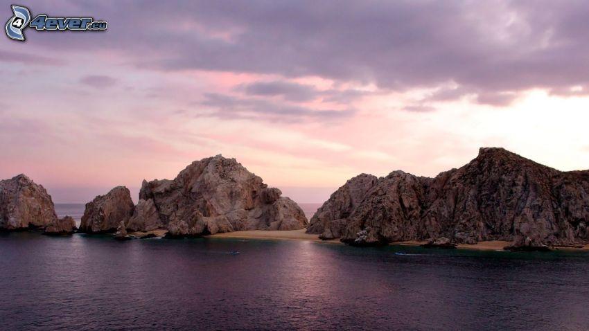 mar, islas, rocas