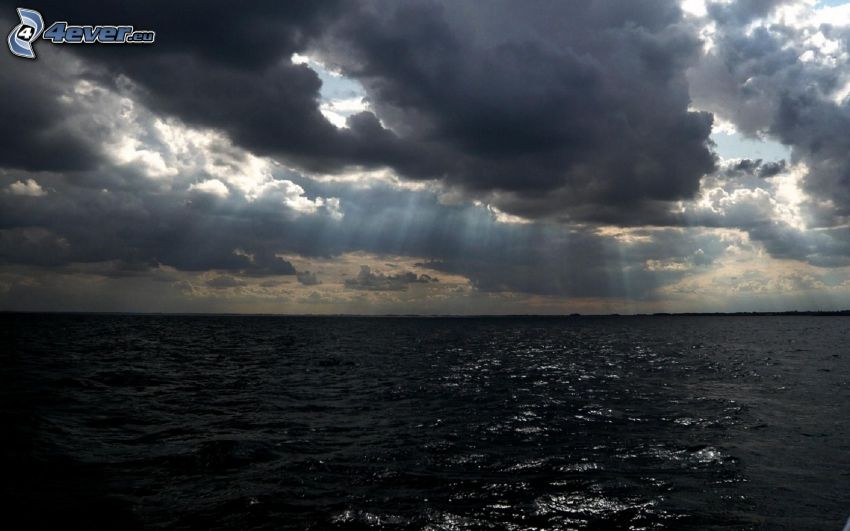 mar, nubes