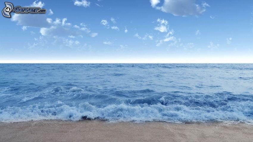 mar, playa, cielo