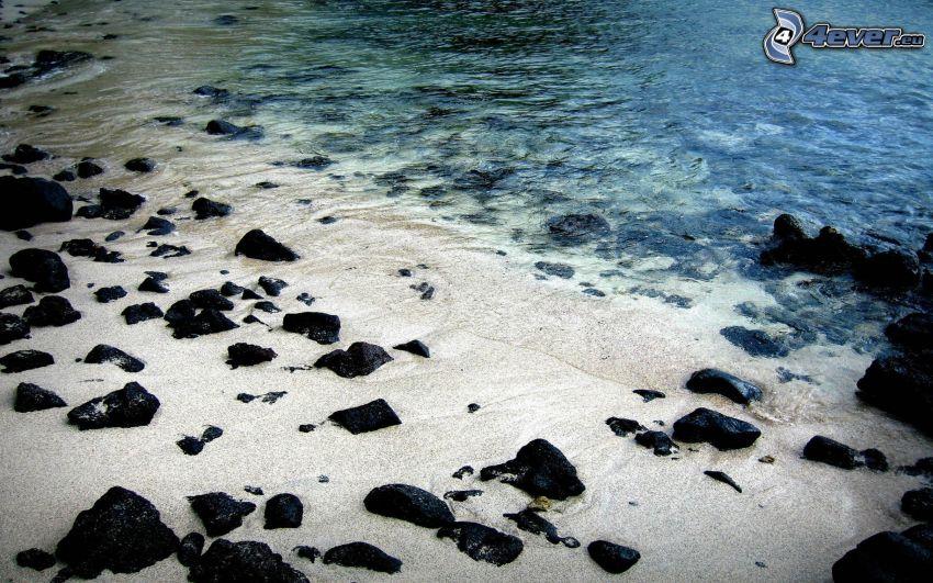 mar, playa rocosa