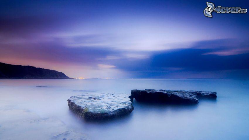mar, rocas, cielo