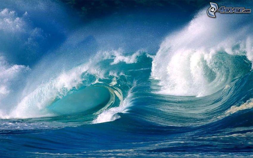 mar turbulento, ondas, océano