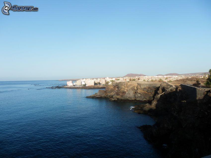 océano, ciudad costera