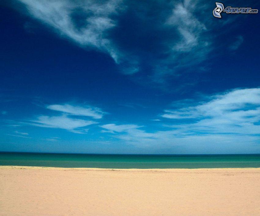 playa, mar, cielo