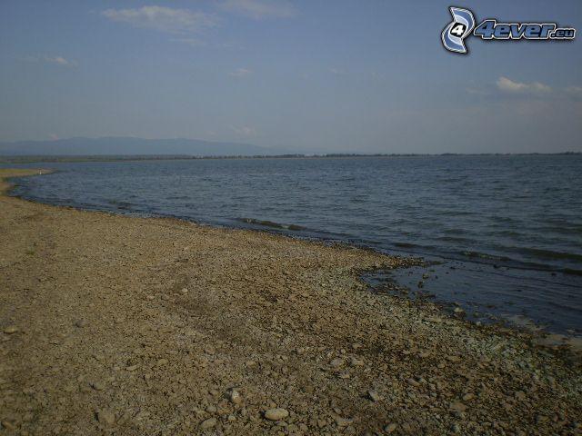 playa rocosa, mar, agua