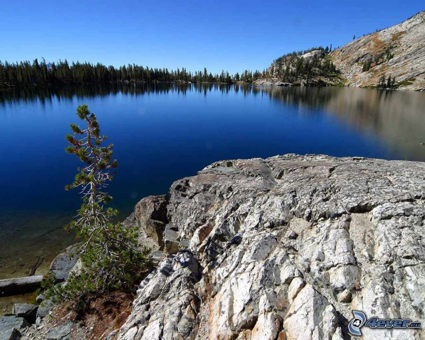 May lake, Parque nacional de Yosemite, lago