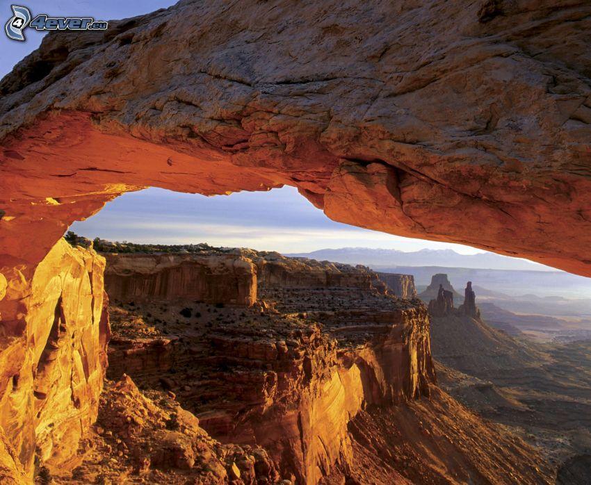 Mesa Arch, puerta de roca, vista