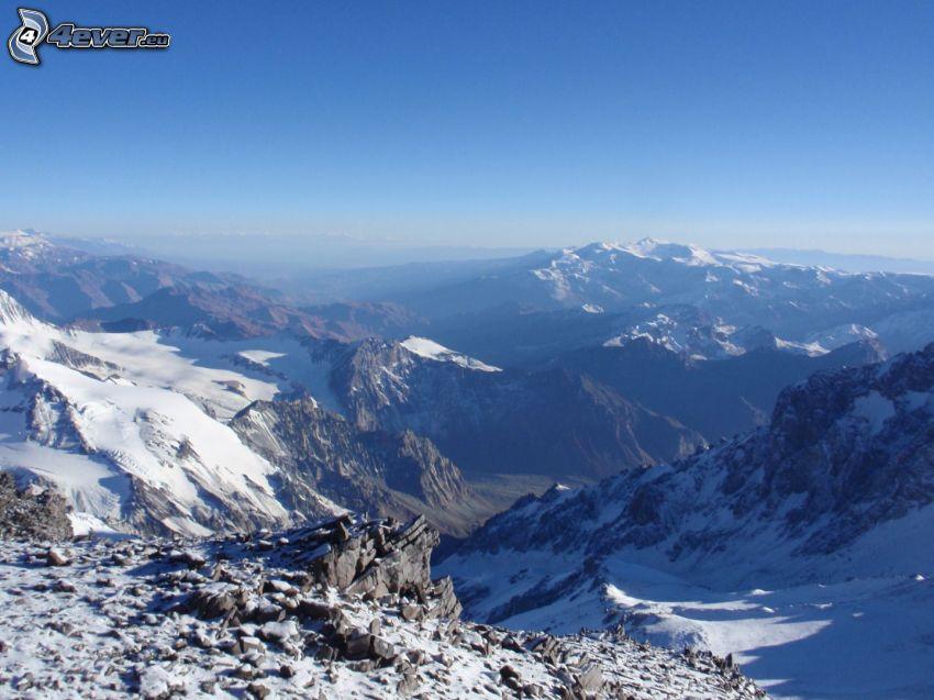 Aconcagua, montaña rocosa