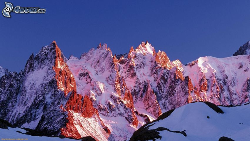 Alpes, montaña rocosa